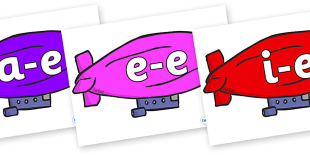 Modifying E Letters on Air Bus - Modifying E, letters, modify, Phase 5, Phase five, alternative spellings for phonemes, DfES letters and Sounds