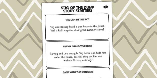 Stig of the Dump Story Writing Activity Story Starters - Stig