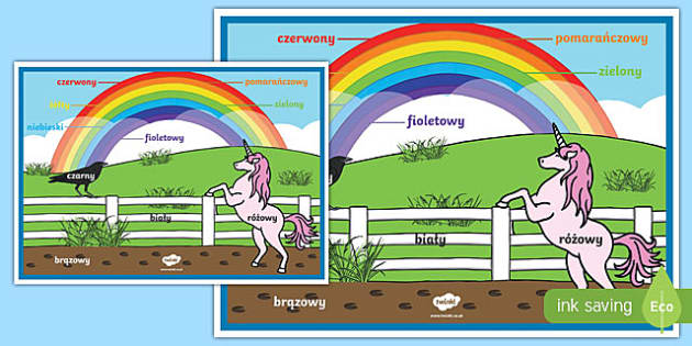Rainbow Colours Polish A2 Display Poster