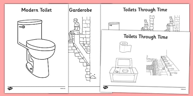 Toilets Through Time Colouring Pack - toilets, toilets through time, colouring pack, colour, pack
