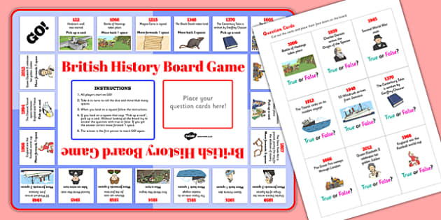 British History Timeline Board Game - board game, british, history