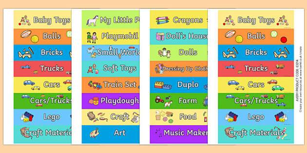 Toy Tray Labels - toy, tray, labels, tray labels, toy tray, trays, themed labels, name labels, tray tags, name tags, tray names, themed trays, toy labels, toys labeld
