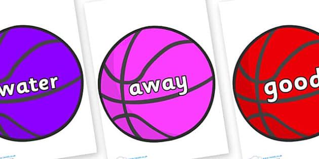 Next 200 Common Words on Basketballs - Next 200 Common Words on  - DfES Letters and Sounds, Letters and Sounds, Letters and sounds words, Common words, 200 common words