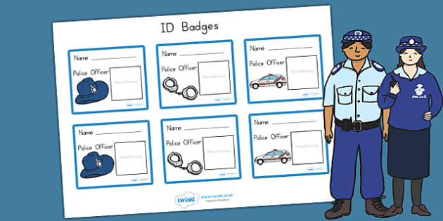 Police Role Play Badges - police, police role play, props, prop