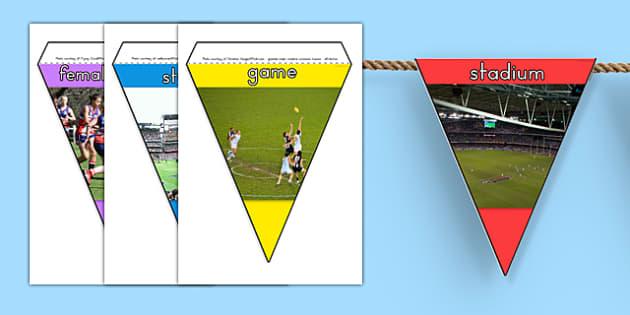 AFL Australian Football League Photo Display Bunting - AFL, sport