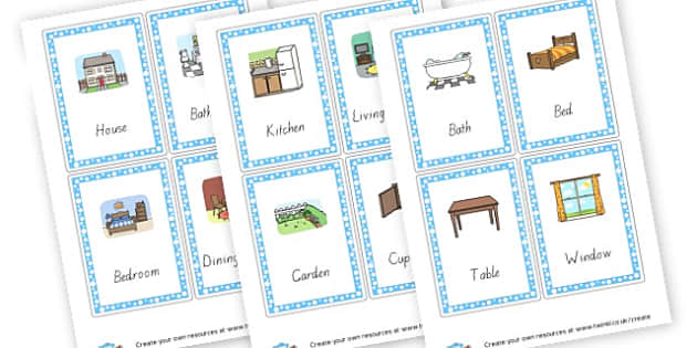 Parts of the House Word Cards - Literacy, Keywords, Houses and Homes, Literacy, Houses & Homes Pr