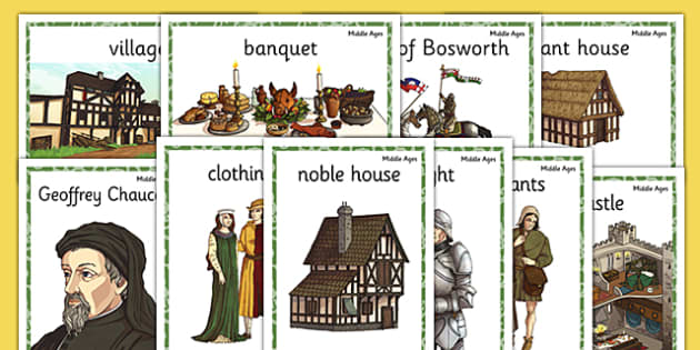 Middle Ages Display Posters - middle ages, medieval, display posters, display, posters