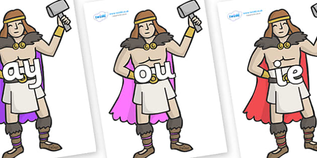 Phase 5 Phonemes on Viking Warriors - Phonemes, phoneme, Phase 5, Phase five, Foundation, Literacy, Letters and Sounds, DfES, display