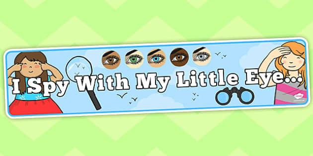 I Spy With My Little Eye Display Banner - australia, display