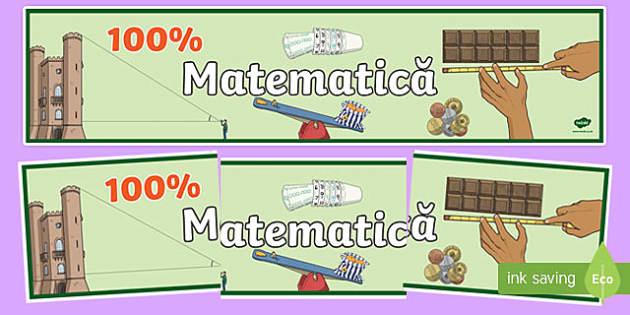 Matematică CCD - Banner