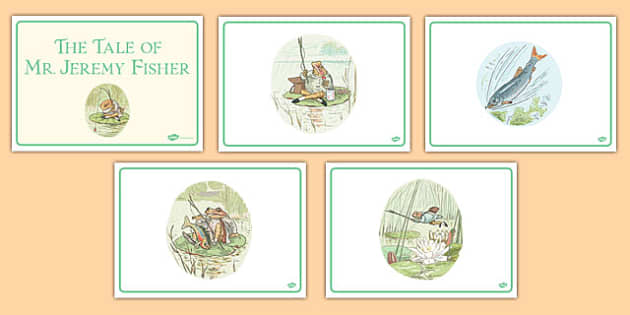 The Tale of Mr Jeremy Fisher Short Story Sequencing - beatrix potter, traditional, tale, frog, fun, story, retell, sequence, order, structure, english, writing, reading, ks1, key stage 1, early years,