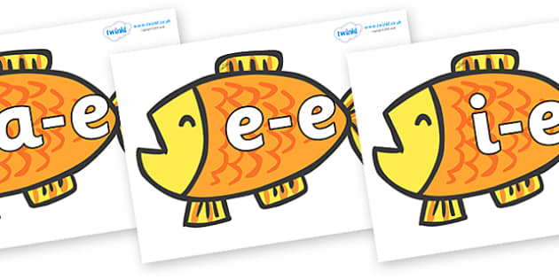Modifying E Letters on Goldfish to Support Teaching on Brown Bear, Brown Bear - Modifying E, letters, modify, Phase 5, Phase five, alternative spellings for phonemes, DfES letters and Sounds
