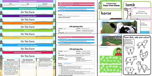 EYFS Farm Themed Bumper Planning Pack - eyfs, farm, bumper, plan