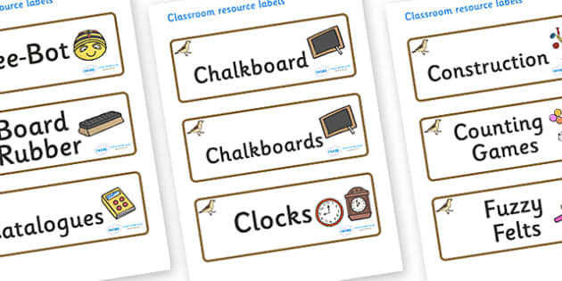 Sparrow Themed Editable Additional Classroom Resource Labels - Themed Label template, Resource Label, Name Labels, Editable Labels, Drawer Labels, KS1 Labels, Foundation Labels, Foundation Stage Labels, Teaching Labels, Resource Labels, Tray Labels,
