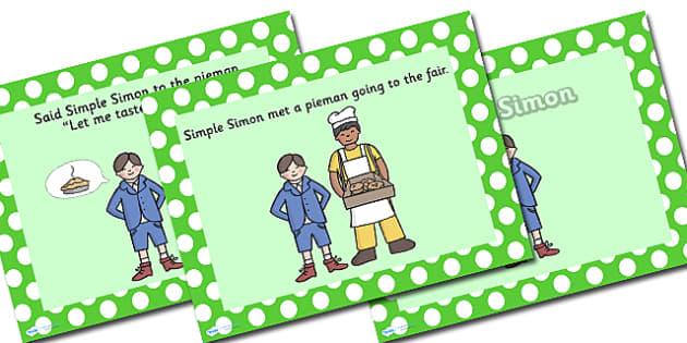 Simple Simon PowerPoint - simple simon, nursery rhymes, nursery rhyme powerpoint, simple simon nursery rhyme, simple simon nursery rhyme powerpoint