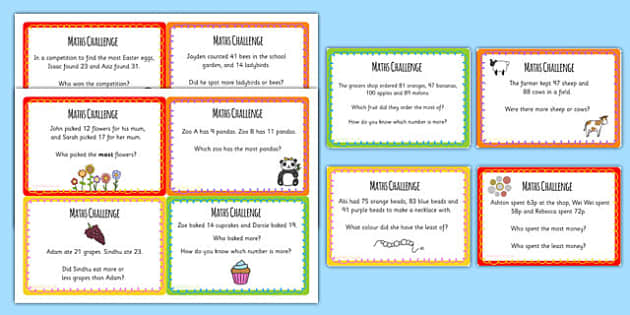 Year 2 Place Value Challenge Cards - place value cards, numeracy