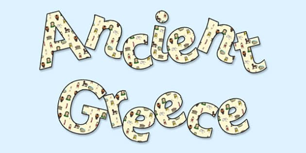 'Ancient Greece' Display Lettering - greece, ancient greece, ancient greece lettering, ancient greece letters, ancient greeks, ancient greece display, ks2
