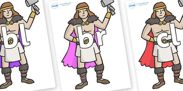 Initial Letter Blends on Viking Warriors - Initial Letters, initial letter, letter blend, letter blends, consonant, consonants, digraph, trigraph, literacy, alphabet, letters, foundation stage literacy
