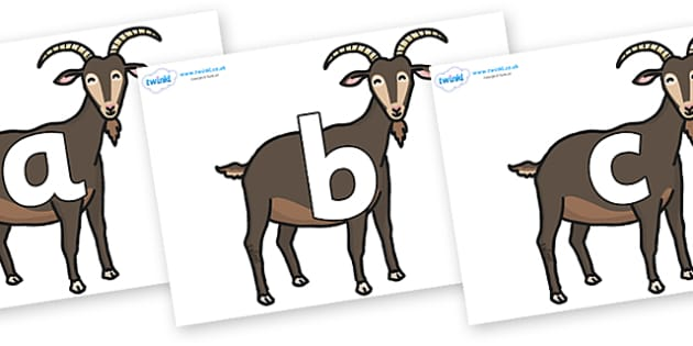 Phoneme Set on Big Billy Goats - Phoneme set, phonemes, phoneme, Letters and Sounds, DfES, display, Phase 1, Phase 2, Phase 3, Phase 5, Foundation, Literacy