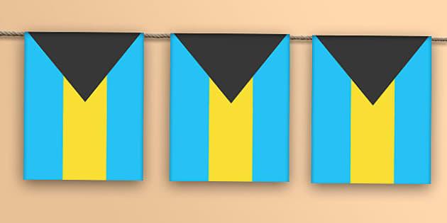 Bahamas Flag Bunting - bahamas flag, bahamas, flag, bunting, display bunting, display