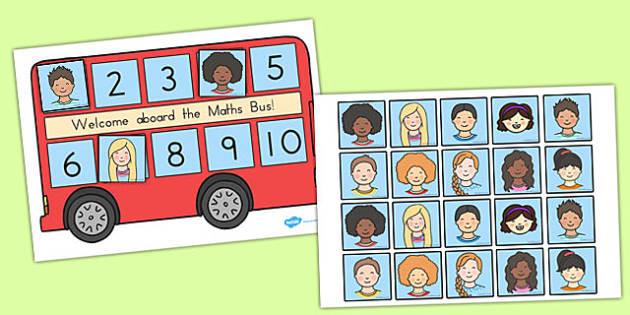 Maths Bus - australia, maths, bus, numeracy, game, activity