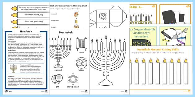 Top Ten KS1  Hanukkah  Activity Pack-Australia - Hanukkah, Jew, Judaism, celebration, light, festival,Australia
