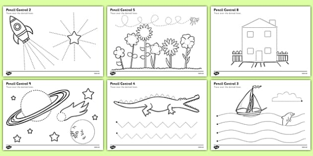 Pencil Control Worksheet - education, home school, child development, children activities, free, kids, worksheets, how to write, literacy