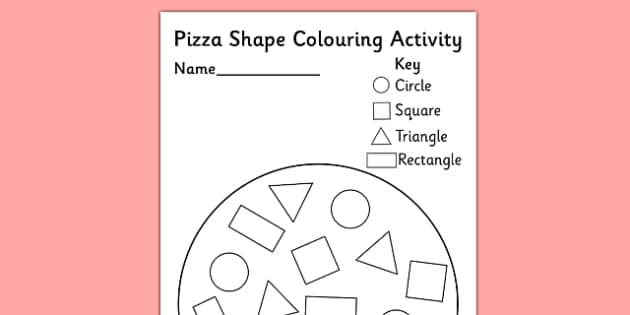 Shape Pizza Colouring Activity - shape, pizza, colouring activity