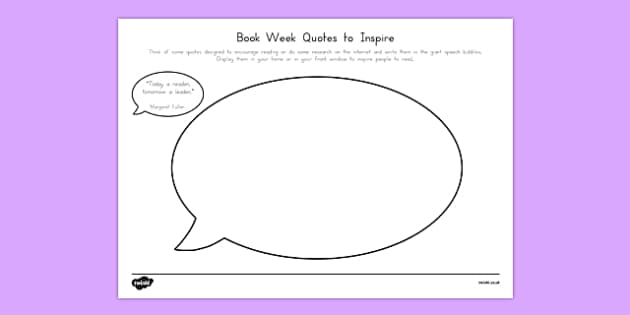 Book Week Quotes to Inspire Activity Sheet-Australia, worksheet