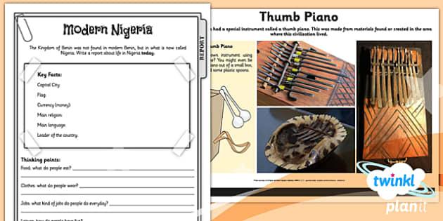 PlanIt - History UKS2 - Benin Unit Home Learning Tasks - planit