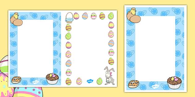 Editable Easter Card Insert Template - editable, easter, card, insert, template