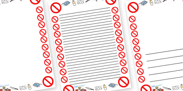 Safety Page Borders - safety, safe, health, page border, border, writing template, writing aid, writing
