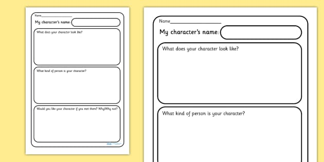 My Character Description Writing Frames - My Character Description Writing Frames, characters, different, description, describing, describe, character, how is, what does it look like, kind of person, creative, writing, independent, writing template,