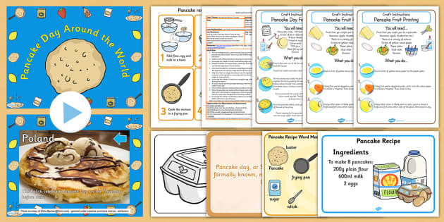 Pancake Day Activity and Craft Resource Pack - pancake, day, pack