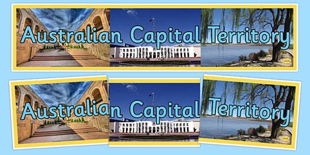Australian Capital Territory Display Banner - australia, States and Territories, ACT, Australian Capital Territory, display