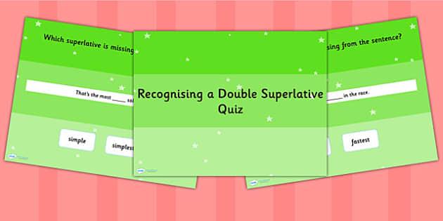 Recognising a Double Superlative SPaG Grammar PowerPoint Quiz