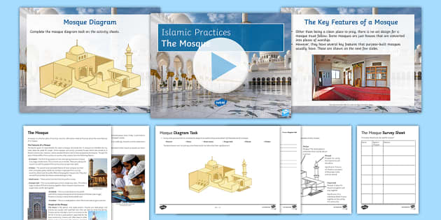 The Mosque Lesson Pack - Islamic Practices, Islam, Makkah, Mecca, Five Pillars, Salah, Prayer, Mosque, Place of worship, Jumm