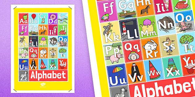 A4 Alphabet Display Poster - a4, alphabet, display poster, display