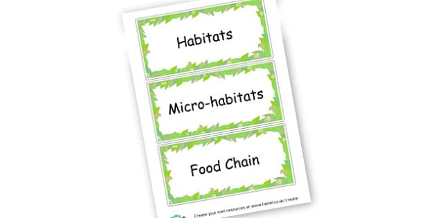 Habitats - Habitats & Environments Primary Resources, Habitats, Environments