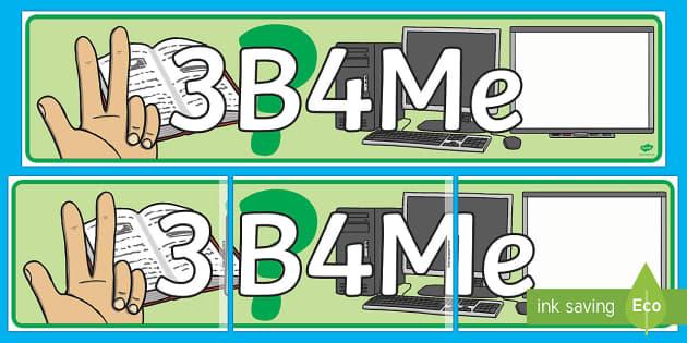 3b4Me Display Banner - New Zealand Back to School, 3B4Me, C3B4Me, see three before me, three before me, banner, display