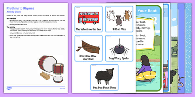 Rhythms to Rhymes Busy Bag Resource Pack for Parents