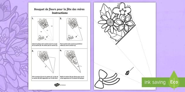 Travaux manuels bouquet de fleurs pour la f te des m res - Fleur fete des meres ...