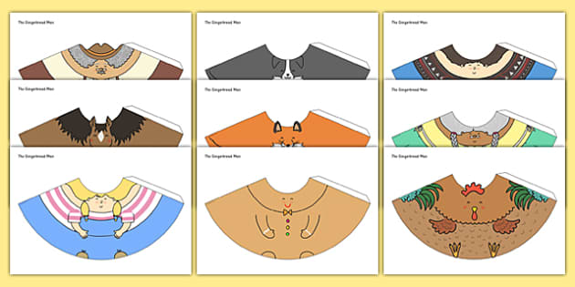 The Gingerbread Man Cone Characters - cone character, gingerbread man, activity, craft, story