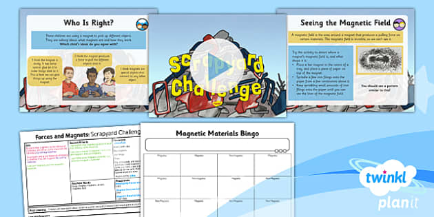 PlanIt - Science Year 3 - Forces and Magnets Lesson 3: Scrapyard Challenge Lesson Pack