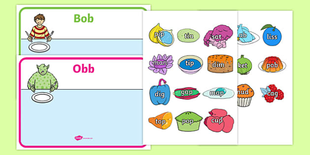 Obb and Bob Phase 2 Sorting Activity