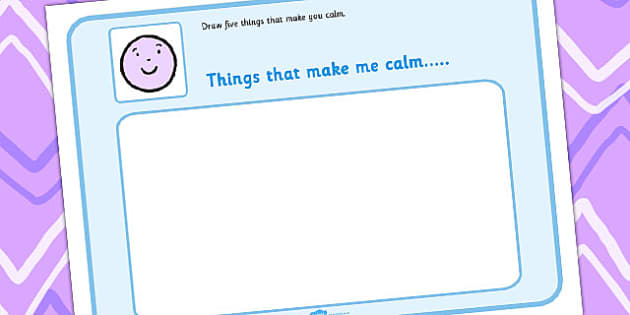 Draw 5 Things That Make You Feel Calm - feelings, emotions, SEN