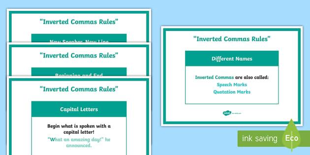 Inverted Commas Display Posters Pack - speech marks poster, using speech marks, speech marks display poster, speech marks posters, speech marks rules, ks2