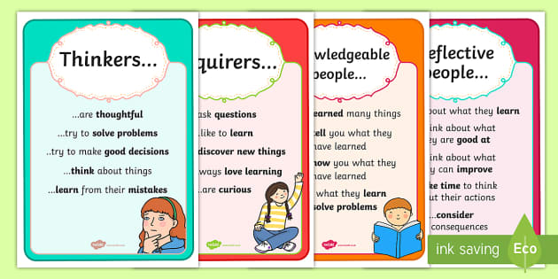 Learner Profile Posters -