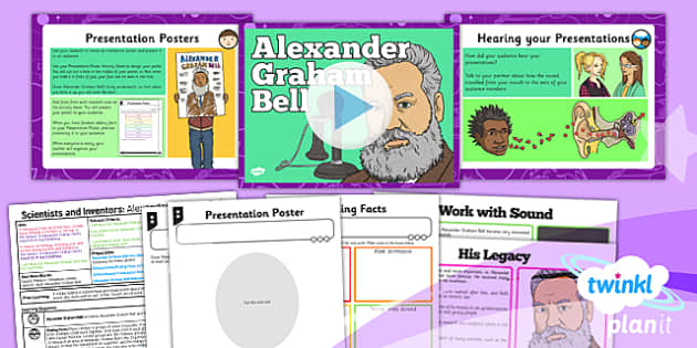PlanIt - Science Year 4 - Scientists and Inventors Lesson 2: Alexander Graham Bell Lesson Pack - planit, sound, telephone, vibrations, waves
