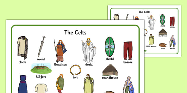 The Iron Age Celts Visual Word Mat - iron age, celts, visual, word mat, word, mat